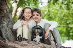 Kids and their dog Newfarm