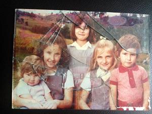 damaged family portrait