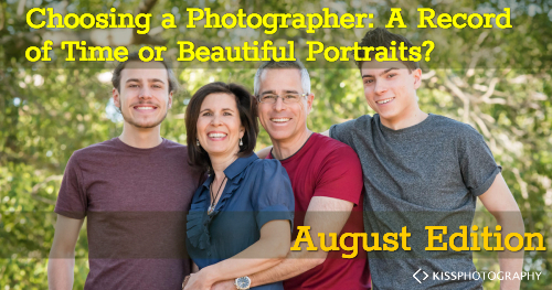 Choosing a photographer. Are we looking for a record of time or beautiful portraits.