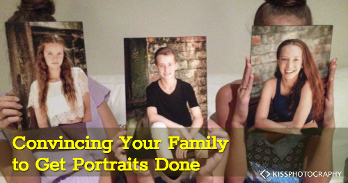 Is your family reluctant about getting portriats done. Here's some tips to make it easier.